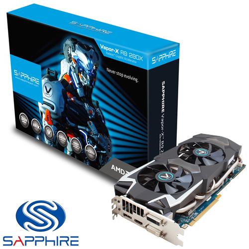 כרטיס מסך (Sapphire AMD Radeon R9 280X Vapor-X 3GB GDDR5 OC (UEFI
