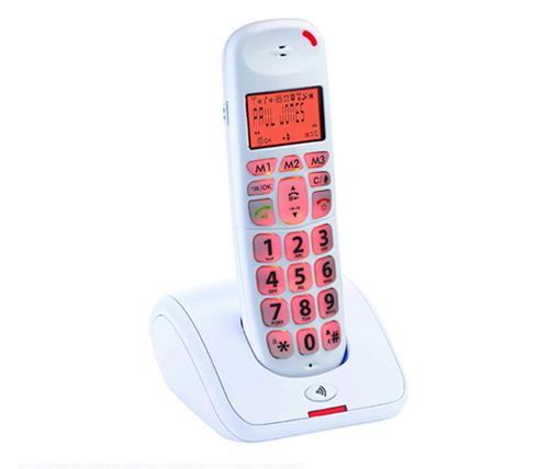 בנפט טלפון אלחוטי דיגיטלי Hyundai HDT L100 לבן לכבדי שמיעה ND-29