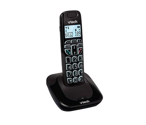 עדכון מעודכן טלפון אלחוטי Vtech SLB-150 B בצבע שחור לכבדי שמיעה CI-32