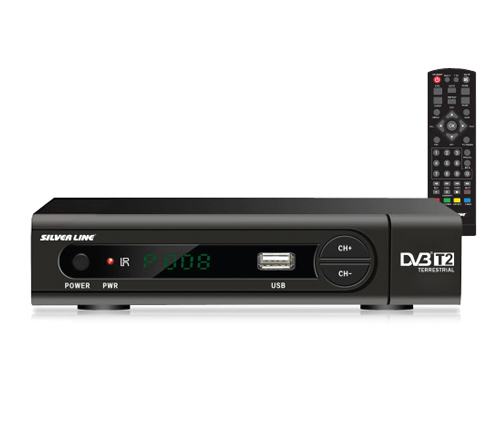 מעולה  ממיר עידן פלוס Silver Line DVB-T2 HD Digital TV With HDMI USB 2.0 HDVB VU-82
