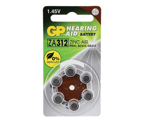 האחרון סוללות למכשיר שמיעה GP ZA312 6 pack MV-48