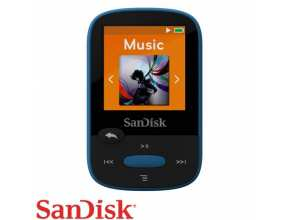 נגן SanDisk Clip Sport 8GB MP3 בצבע כחול