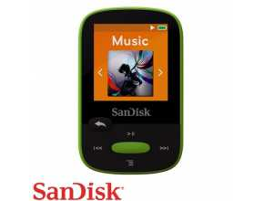 נגן SanDisk Clip Sport 8GB MP3 בצבע ירוק (ליים)
