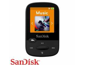 נגן SanDisk Clip Sport 8GB MP3 בצבע שחור