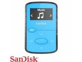 נגן SanDisk Clip Jam 8GB MP3 בצבע כחול