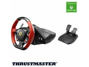 הגה מירוצים + דוושות ThrustMaster Ferrari 458 Spider Racing Wheel ל- XBOX ONE