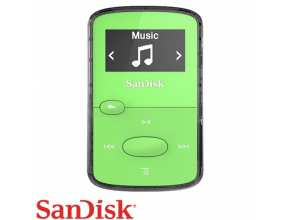 נגן SanDisk Clip Jam 8GB MP3 בצבע ירוק