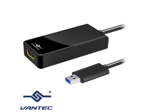 מתאם Vantec USB 3.0 to HDMI / DVI Display NBV-200U3