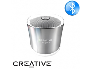 רמקול נייד Creative Woof3 Bluetooth בצבע כסוף