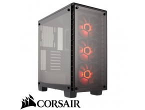 מארז מחשב Corsair Crystal Series 460X RGB בצבע שחור ושקוף
