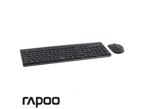 סט אלחוטי RAPOO X8100B Wireless 2.4G בצבע שחור