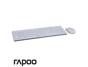 סט אלחוטי RAPOO X8100W Wireless 2.4G בצבע לבן