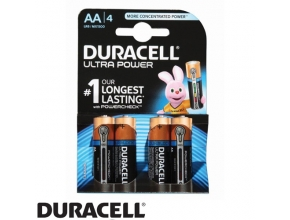 סוללות Duracell Ultra Power MN1500 AA 4 pack