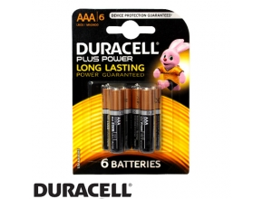 סוללות Duracell Plus Power MN2400 AAA 6 pack