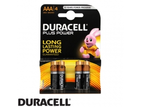 סוללות Duracell Plus Power MN2400 AAA 4 pack