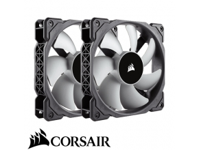 "מאוורר למארז 12 ס""מ Corsair ML120 120mm PWM Premium Magnetic Levitation Fan - זוג מאווררים"