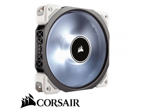 "מאוורר למארז 12 ס""מ Corsair ML120 PRO LED White 120mm PWM Premium Magnetic Levitation Fan"