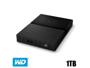 דיסק קשיח חיצוני Western Digital 1TB My Passport WDBYNN0010BBK