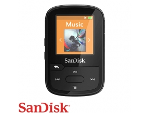 נגן SanDisk Clip Sport PLUS 16GB MP3 Bluetooth בצבע שחור