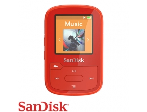 נגן SanDisk Clip Sport PLUS 16G MP3 Bluetooth בצבע אדום