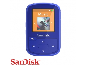 נגן SanDisk Clip Sport PLUS 16G MP3 Bluetooth בצבע כחול