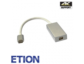 מתאם USB Type C זכר ל-Mini Display Port נקבה ETION