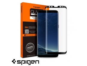 מגן מסך Spigen Galaxy S8 PlusGLAS.tR Full Cover Glass - יבואן רשמי