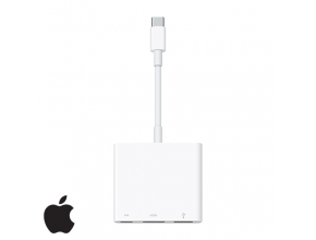 מתאם מקורי USB Type C Apple זכר ל-HDMI, USB ו- USB Type C