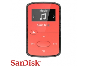 נגן SanDisk Clip Jam 8GB MP3 בצבע אדום