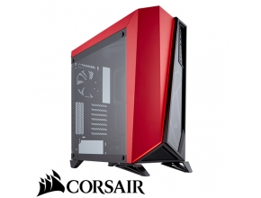 מארז מחשב Corsair Carbide Series® SPEC-OMEGA Tempered Glass בצבע אדום ושחור