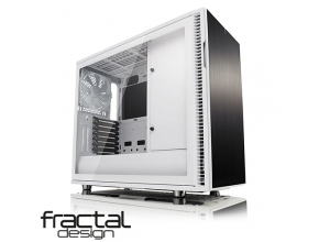 מארז מחשב Fractal Design Define R6 USB-C White – TG בצבע לבן