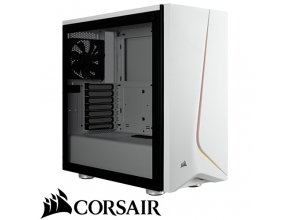 מארז מחשב Corsair Carbide SPEC-06 RGB Tempered Glass בצבע לבן